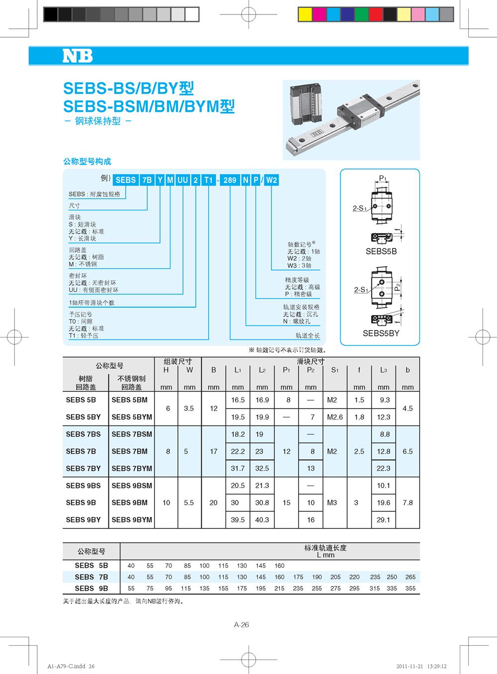NB微型直线导轨SEB