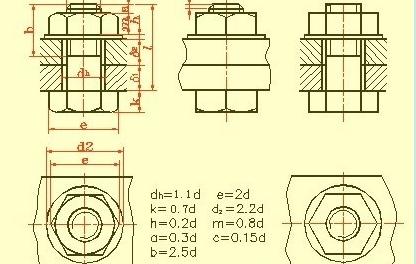 螺栓尺寸图纸怎么画?简易上手的螺栓画法