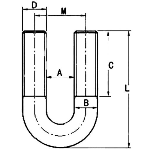 常用U型卡箍尺寸表