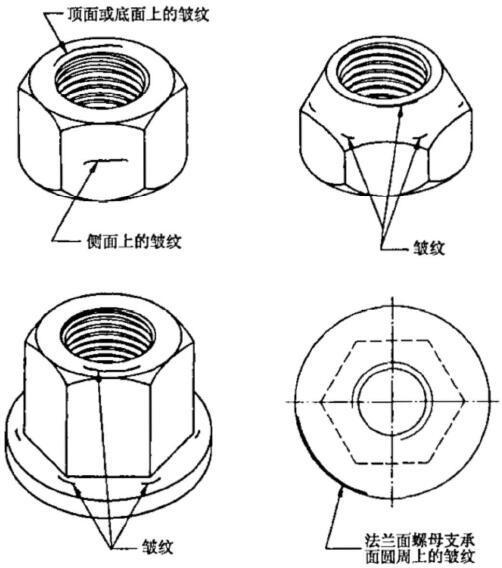 紧固件表面缺陷 - 螺母