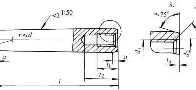 内螺纹圆锥销标准规格尺寸表gbt118-2000