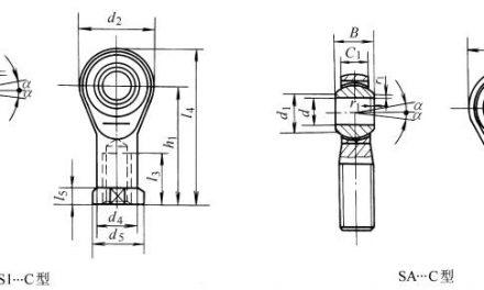 SI…C、SA…C型杆端关节轴承的结构型式和外形尺寸