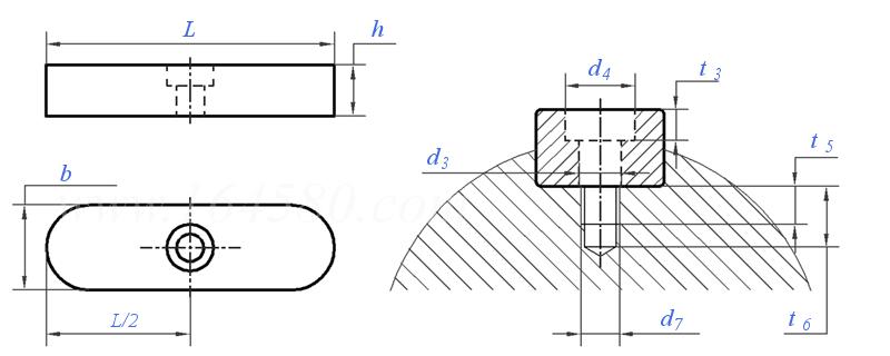DIN6885 -1968 圆头平键标准及规格尺寸